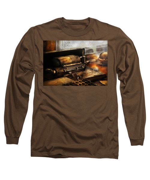 Accountant - The Adding Machine Long Sleeve T-Shirt by Mike Savad