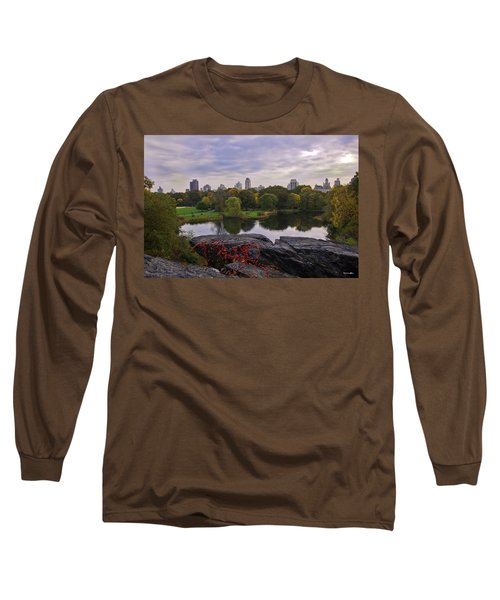 Across The Pond 2 - Central Park - Nyc Long Sleeve T-Shirt
