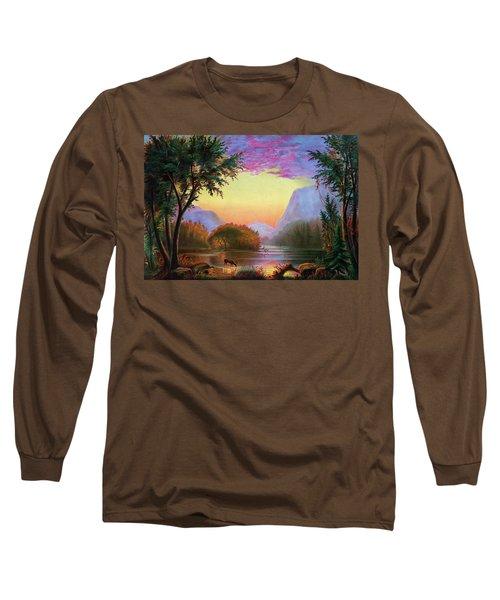 Adirondacks Sunset Long Sleeve T-Shirt