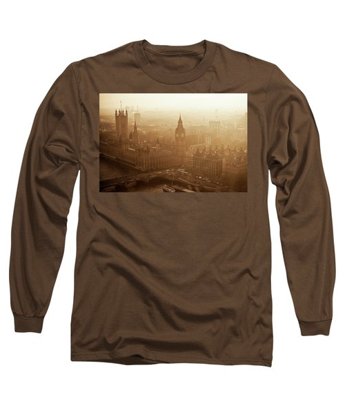 Aerial View Of Big Ben And The Palace Long Sleeve T-Shirt
