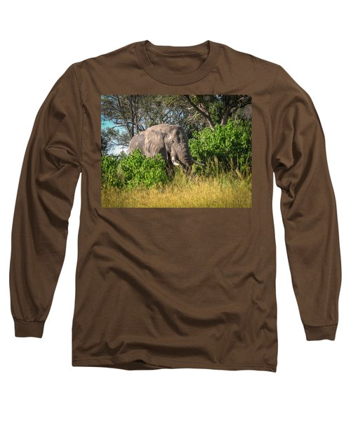African Bush Elephant Long Sleeve T-Shirt