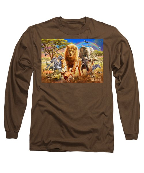 African Stampede Long Sleeve T-Shirt by Adrian Chesterman