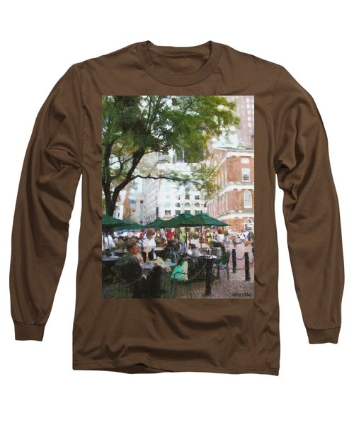 Afternoon At Faneuil Hall Long Sleeve T-Shirt by Jeff Kolker