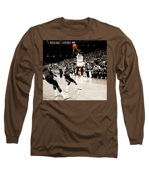 Air Jordan Unc Last Shot Long Sleeve T-Shirt by Brian Reaves