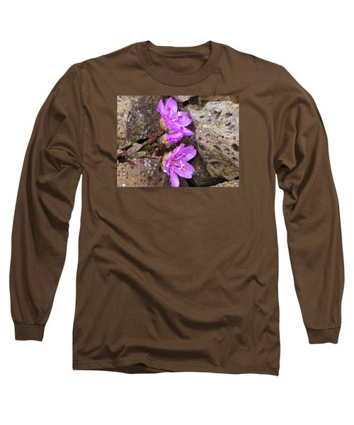 Long Sleeve T-Shirt featuring the photograph Alaskan Wildflower by Julie Andel