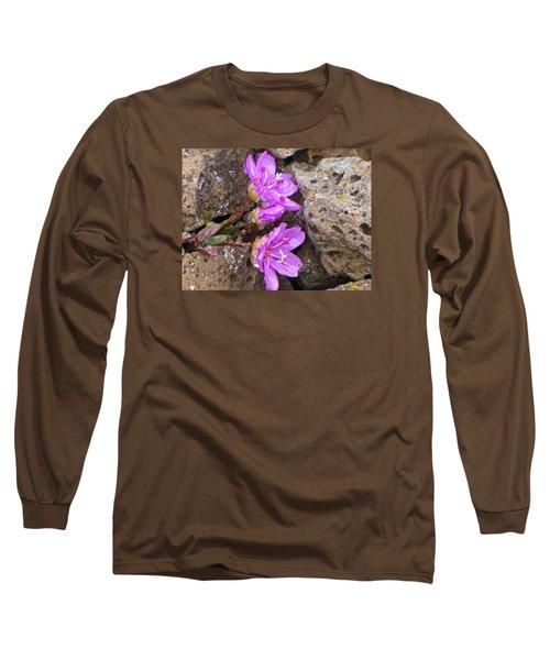 Alaskan Wildflower Long Sleeve T-Shirt by Julie Andel