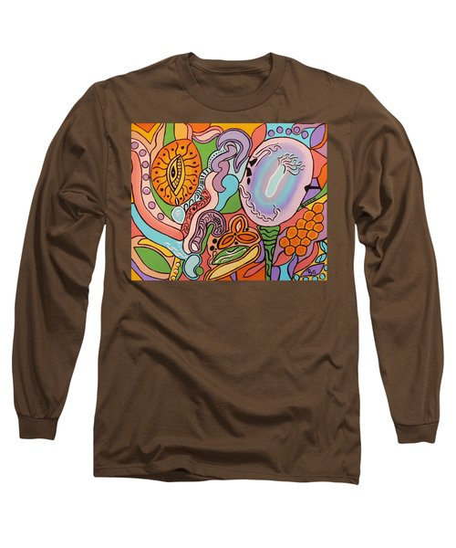 Long Sleeve T-Shirt featuring the painting All Seeing Egg Salad by Barbara St Jean