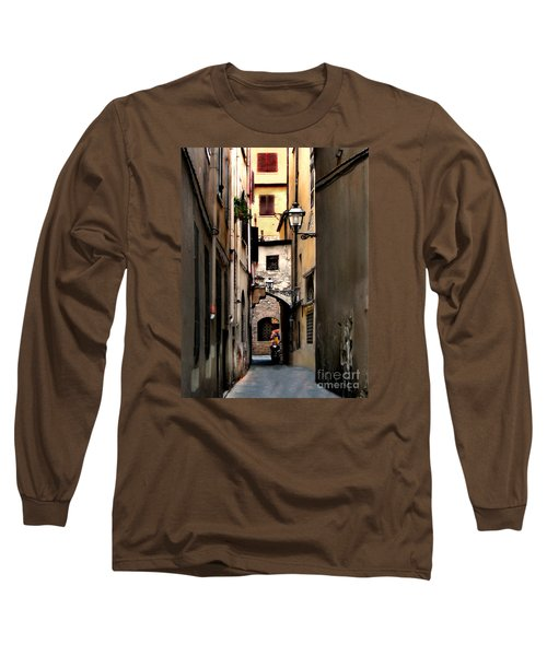 Alley In Florence 1 Long Sleeve T-Shirt by Jennie Breeze