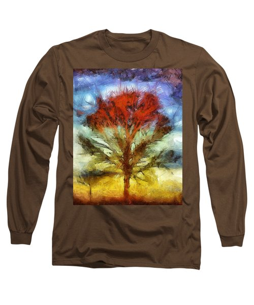 Long Sleeve T-Shirt featuring the drawing Always Reaching Up by Joe Misrasi