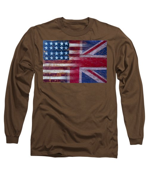 American British Flag 2 Long Sleeve T-Shirt