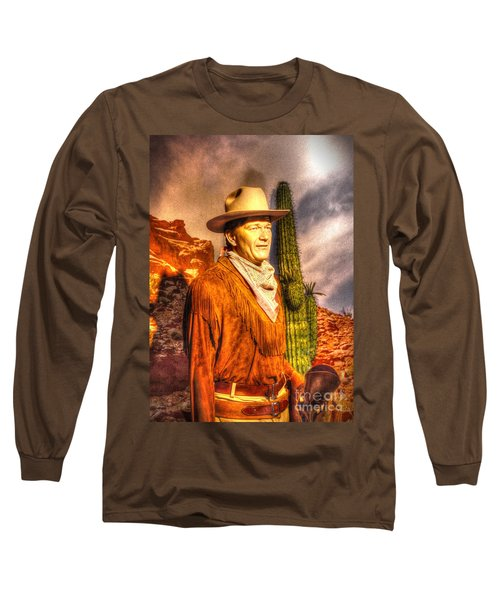 American Cinema Icons - The Duke Long Sleeve T-Shirt