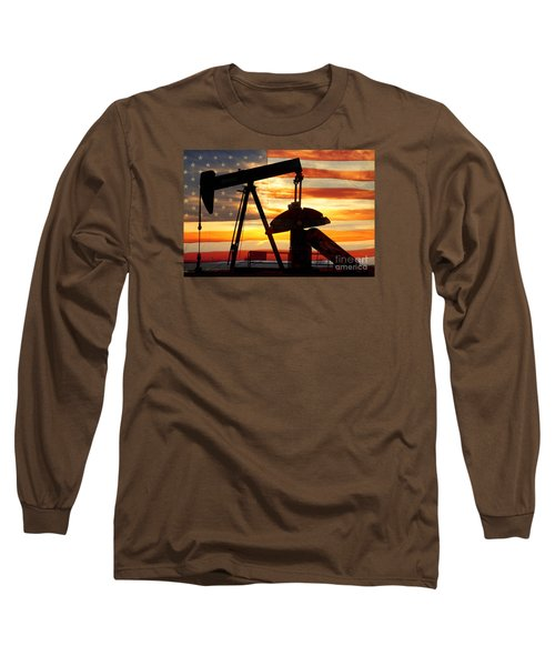American Oil  Long Sleeve T-Shirt by James BO  Insogna