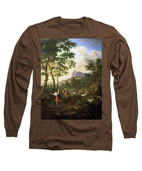 An Arcadian Landscape With Pan And Syrinx Long Sleeve T-Shirt