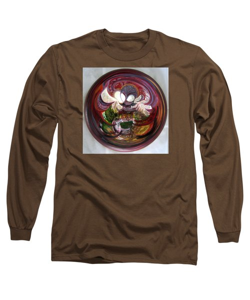 Anamorphic Chinese Pagoda Long Sleeve T-Shirt by LaVonne Hand