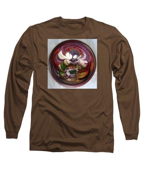 Anamorphic Chinese Pagoda Long Sleeve T-Shirt