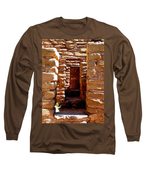 Long Sleeve T-Shirt featuring the photograph Ancient Doorways by Alan Socolik