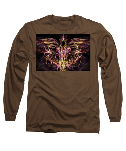 Long Sleeve T-Shirt featuring the digital art Angel Of Death by Lilia D