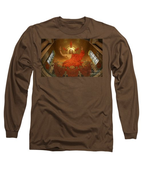 Angry God Mosaic At The Shrine Of The Immaculate Conception In Washington Dc Long Sleeve T-Shirt