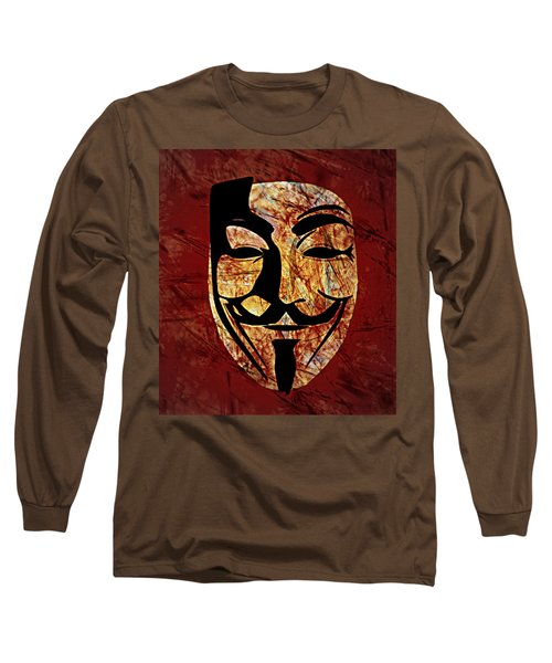 Anonymous Long Sleeve T-Shirt by Ally  White