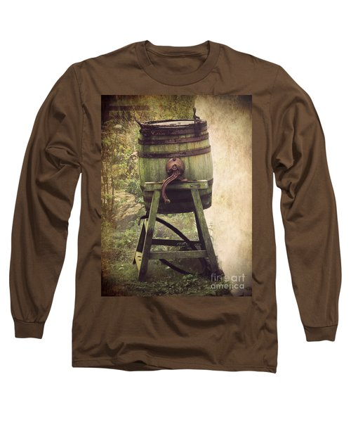 Long Sleeve T-Shirt featuring the photograph Antique Butter Churn by Linsey Williams