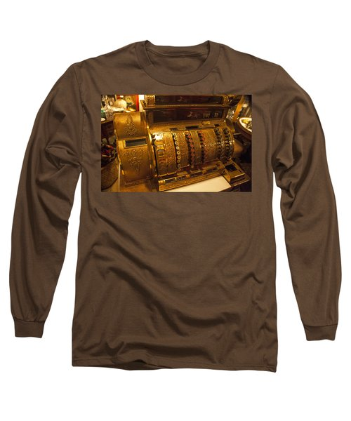 Long Sleeve T-Shirt featuring the photograph Antique Cash Register by Jerry Cowart
