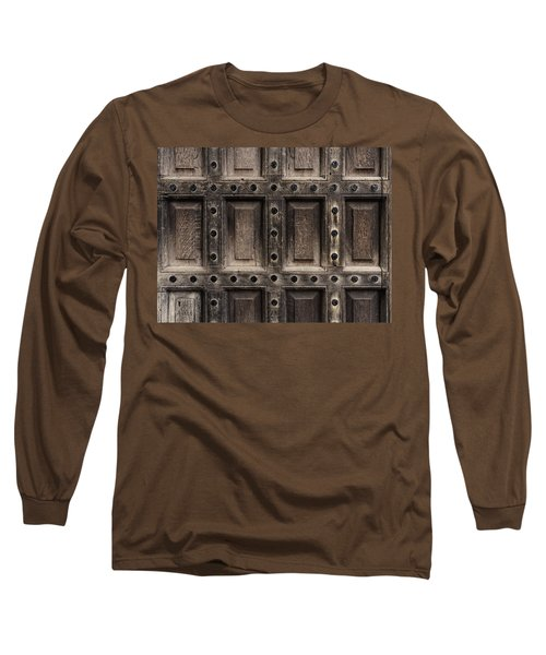 Antique Wooden Door Closeup Long Sleeve T-Shirt
