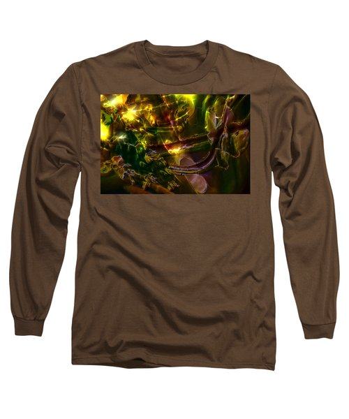 Long Sleeve T-Shirt featuring the digital art Apocryphal - Tilting From Beastback by Richard Thomas