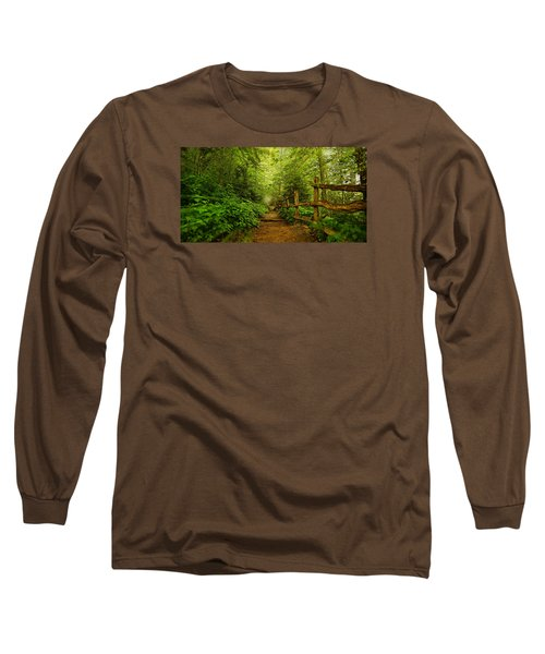 Appalachian Trail At Newfound Gap Long Sleeve T-Shirt by Stephen Stookey