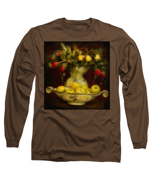 Apples Pears And Tulips Long Sleeve T-Shirt