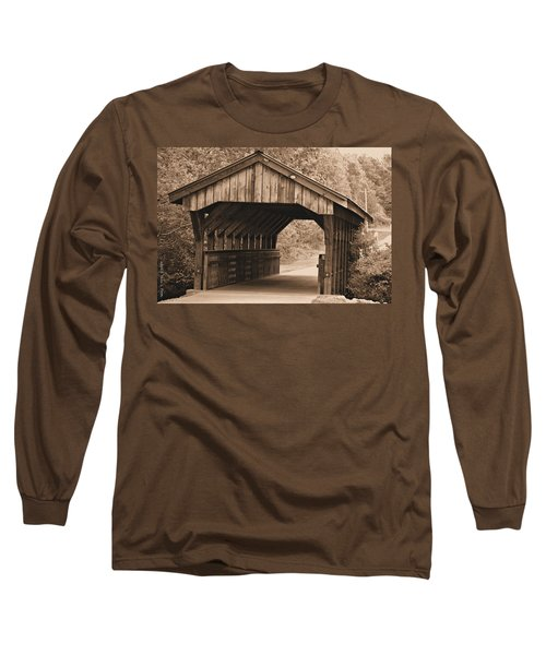 Arabia Mountain Covered Bridge Long Sleeve T-Shirt