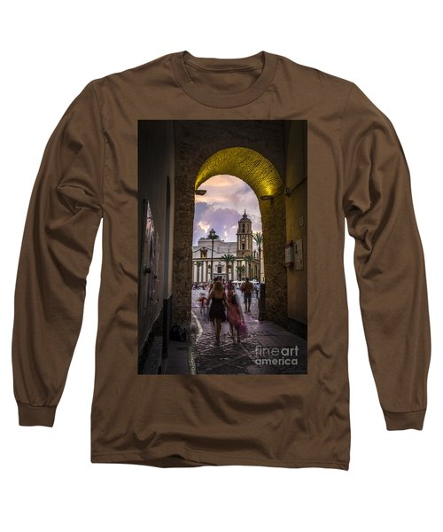 Arc Of The Rose Cadiz Spain Long Sleeve T-Shirt by Pablo Avanzini