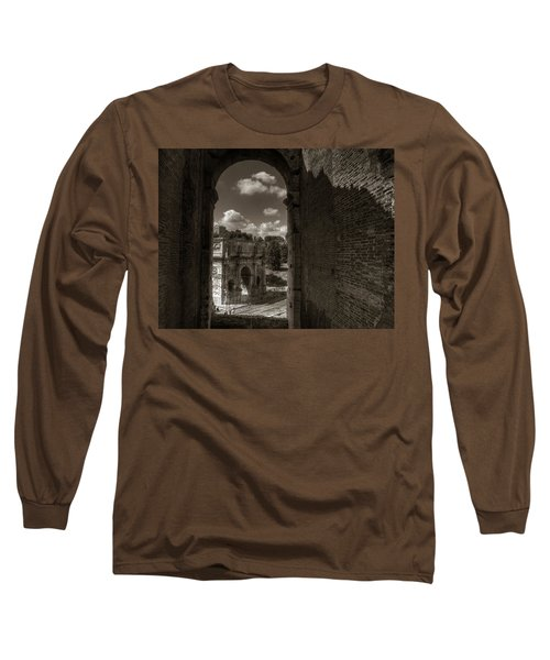 Arch Of Constantine From The Colosseum Long Sleeve T-Shirt