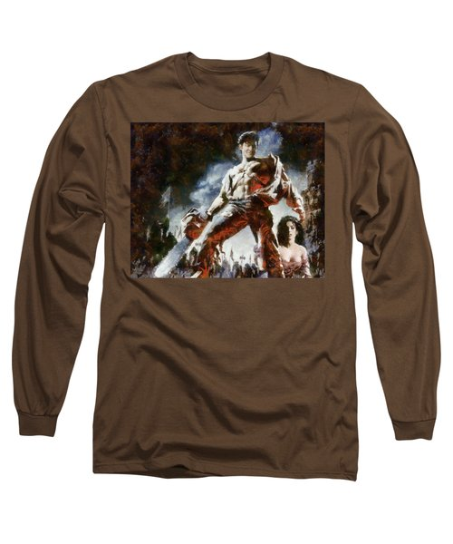 Long Sleeve T-Shirt featuring the painting Army Of Darkness by Joe Misrasi