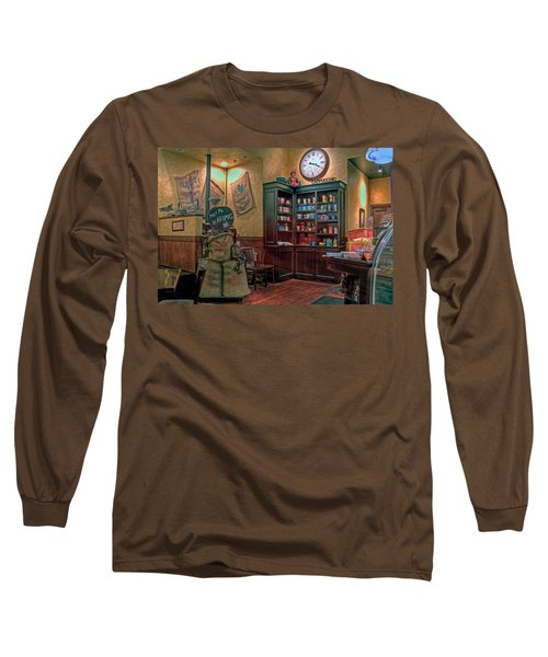 Long Sleeve T-Shirt featuring the photograph Aromas Coffee Shop Newport News Virginia by Jerry Gammon