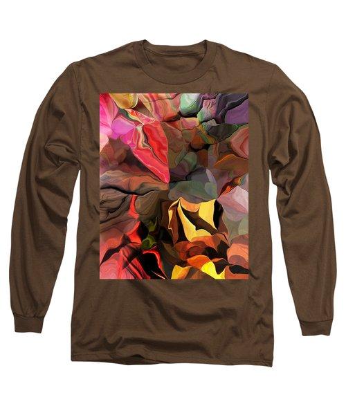 Long Sleeve T-Shirt featuring the digital art Arroyo  by David Lane