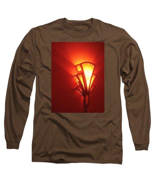 Long Sleeve T-Shirt featuring the photograph Art Deco Light Fox Tucson Arizona  Theater  2006 by David Lee Guss