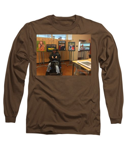 Long Sleeve T-Shirt featuring the photograph Artist With Lake Series by Donald J Ryker III