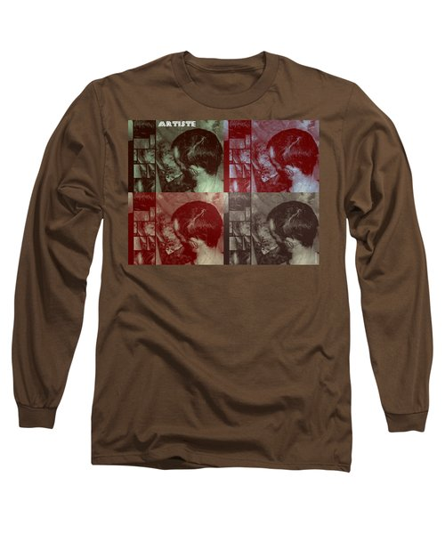 Long Sleeve T-Shirt featuring the photograph Artiste Stevo York Headpainting Part One by Sir Josef - Social Critic - ART