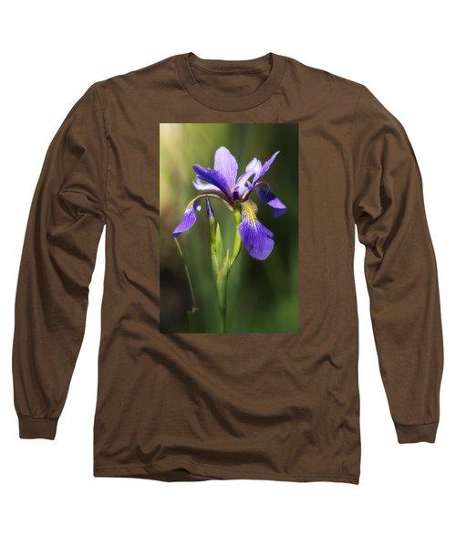 Artsy Iris Long Sleeve T-Shirt by Shelly Gunderson