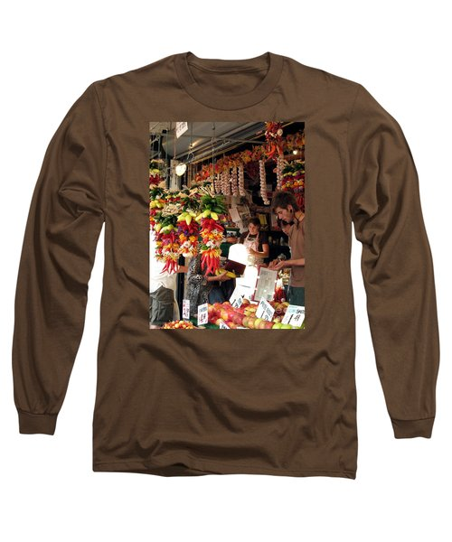 At The Market Long Sleeve T-Shirt by Chris Anderson