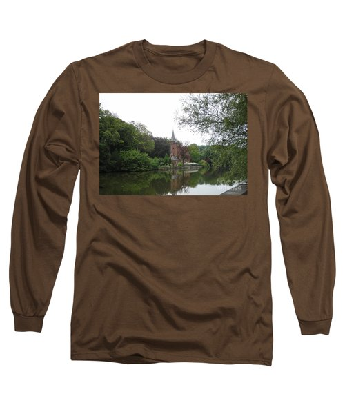 at THE MINNEWATER in BRUGGE Brugges Belgium Long Sleeve T-Shirt by PainterArtist FIN