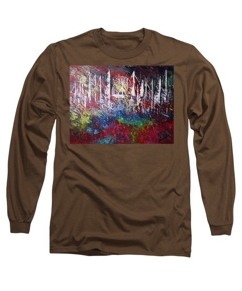 At The Top Long Sleeve T-Shirt by George Riney