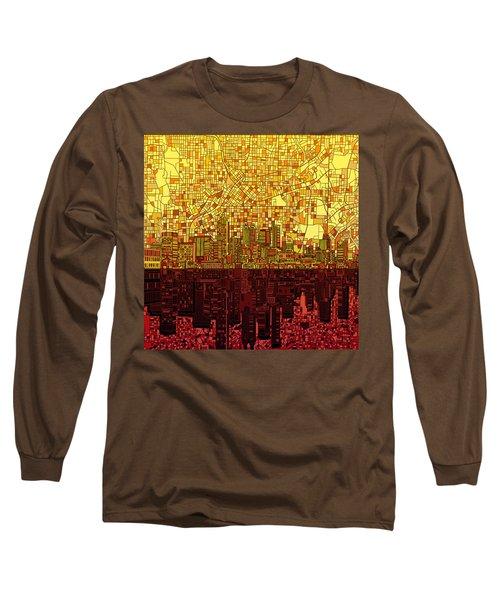 Atlanta Skyline Abstract 3 Long Sleeve T-Shirt
