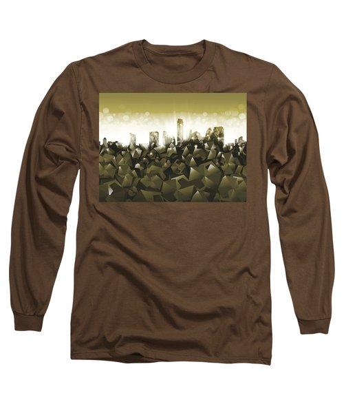 Austin Texas Geometry Long Sleeve T-Shirt