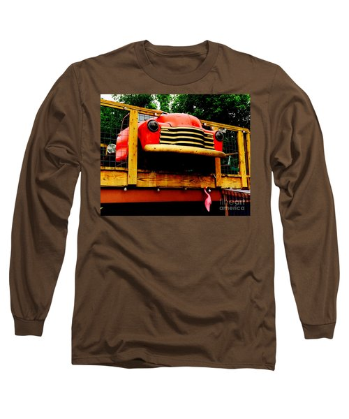 Austin Texas - Maria's Taco Express - Luther Fine Art Long Sleeve T-Shirt