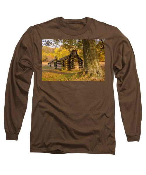 Autumn And The Huts At Valley Forge Long Sleeve T-Shirt
