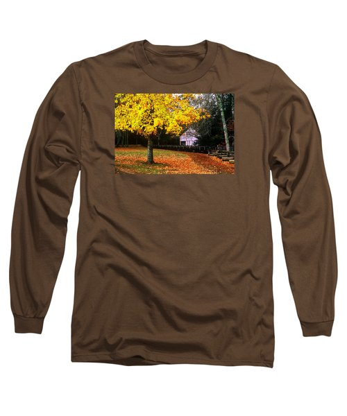 Long Sleeve T-Shirt featuring the photograph Autumn At Old Mill by Rodney Lee Williams
