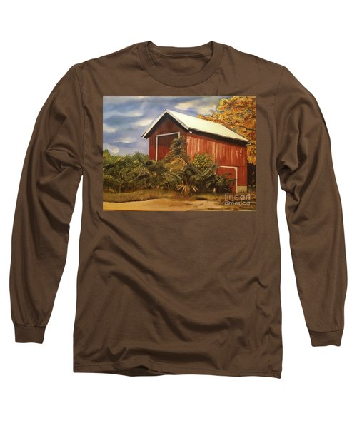 Autumn - Barn - Ohio Long Sleeve T-Shirt