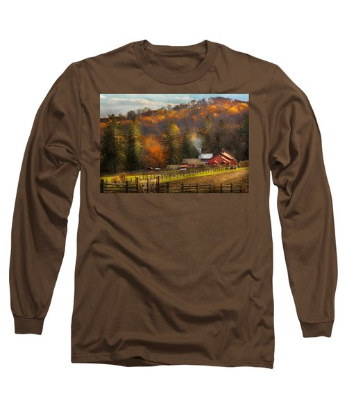 Autumn - Barn - The End Of A Season Long Sleeve T-Shirt