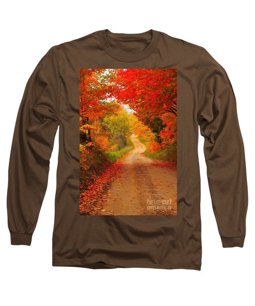 Long Sleeve T-Shirt featuring the photograph Autumn Cameo by Terri Gostola